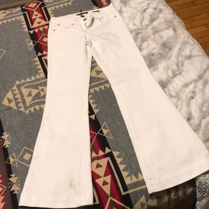 White belle bottom flares Fossil